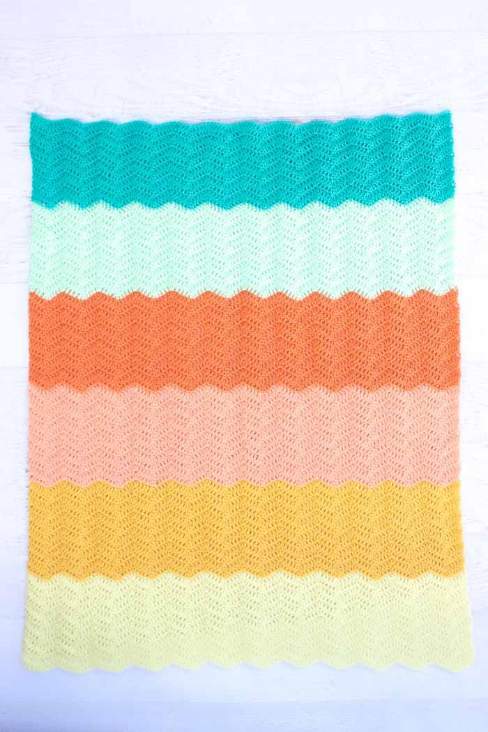 Ripple Crochet Baby Blanket Free Pattern 4 Make Do Crew