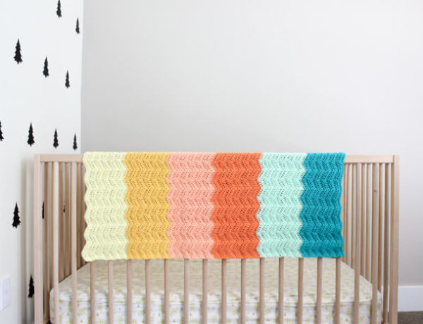 Gorgeous! Every new baby deserves a warm welcome into the world and this easy crochet baby blanket pattern puts a modern twist on the traditional ripple. Made using Lion Brand's Baby Soft yarn.