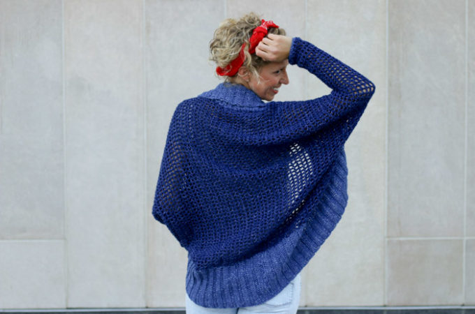 Lightweight + Easy Crochet Shrug – Free Pattern