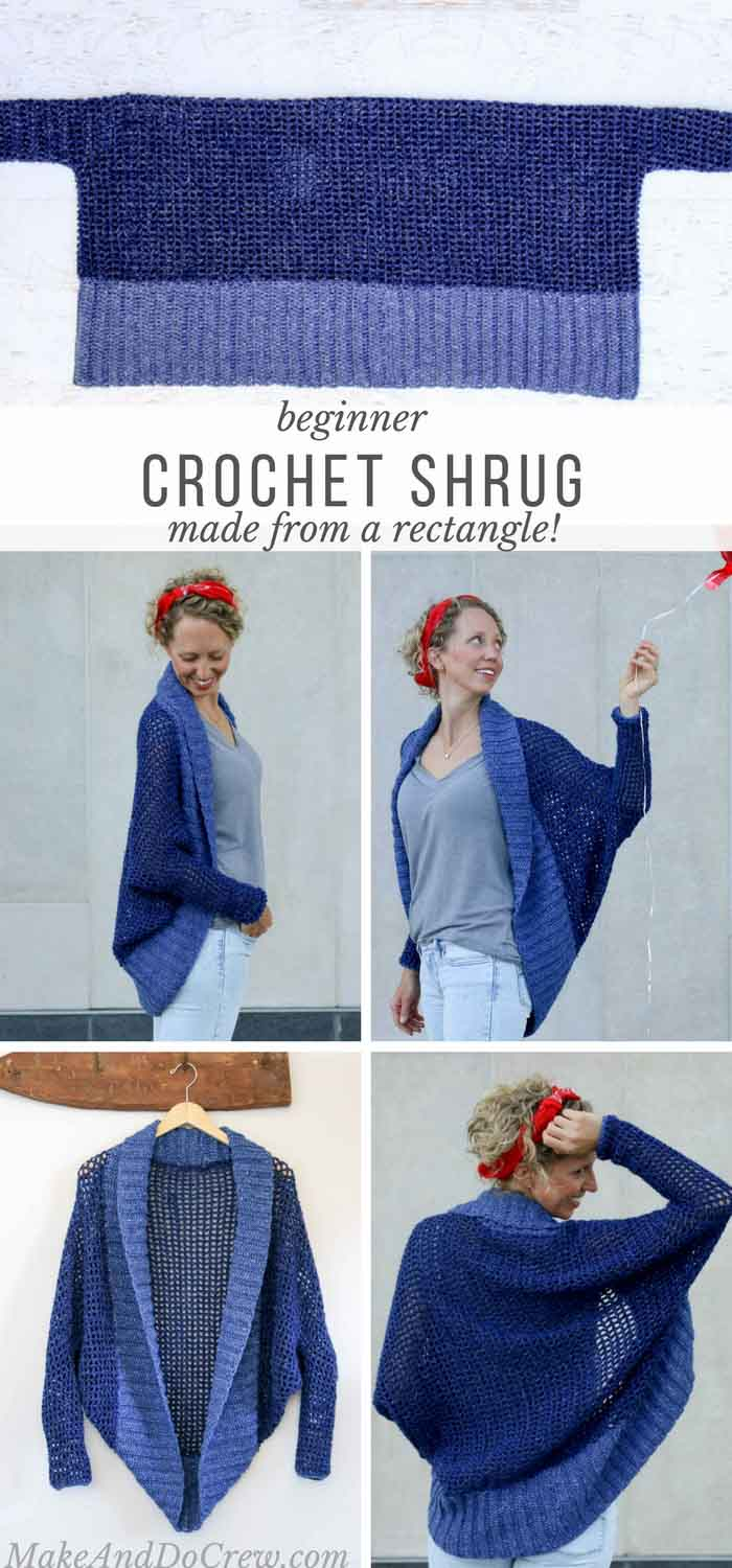 Easy crochet shrug pattern beginners make do crew dont let the dolman sleeves modern silhouette fool you this easy crochet shrug bankloansurffo Image collections
