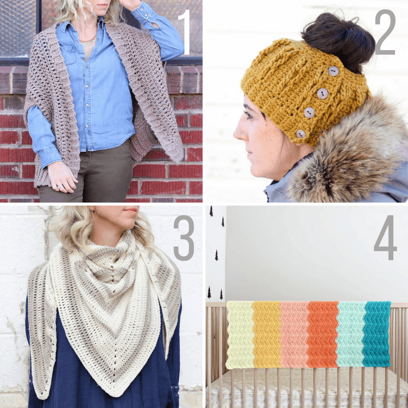 free modern crochet patterns from Make and Do Crew