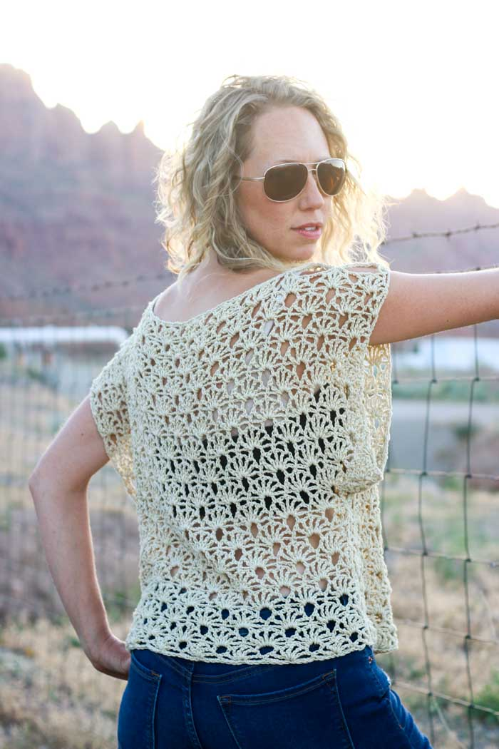 Canyonlands Boho Crochet Top Free Pattern Make Do Crew