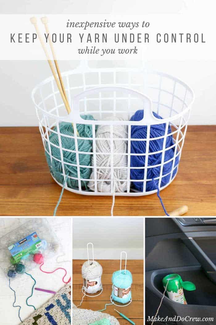 Inexpensive Diy Yarn Holders From Household Items Make Do Crew