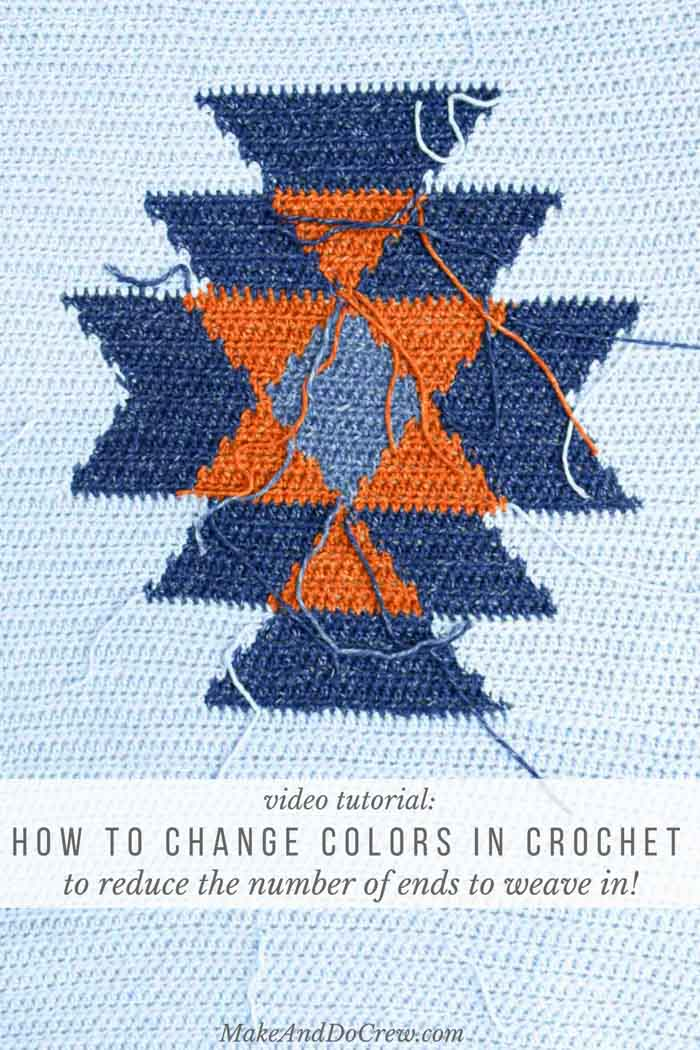 Learn how to change colors in crochet without cutting yarn to create fewer tails and more crochet time. If you'd rather crochet than weave in ends, this video tutorial is for you!