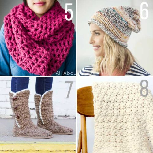 Free chunky crochet and knitting patterns featuring Lion Brand Wool Ease  Thick   Quick. Chunky 6c28e1d8ee7