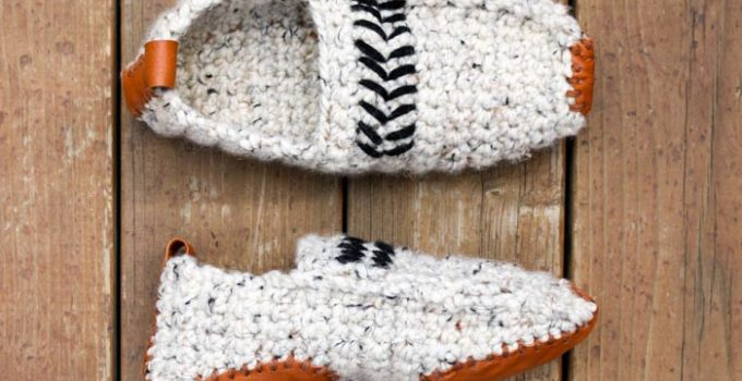 Modern Women or Men's Crochet Slippers – Free Pattern