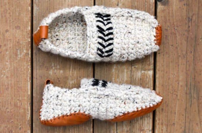 Modern Women or Men's Crochet Slippers – Free Pattern