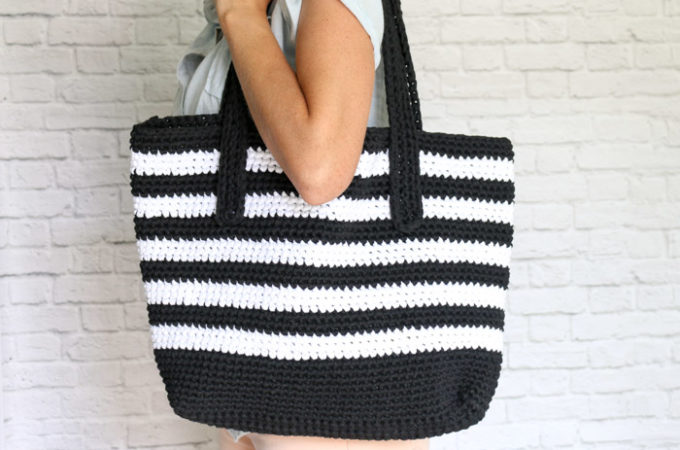 The Audrey Tote – Crochet Tote Bag Free Pattern