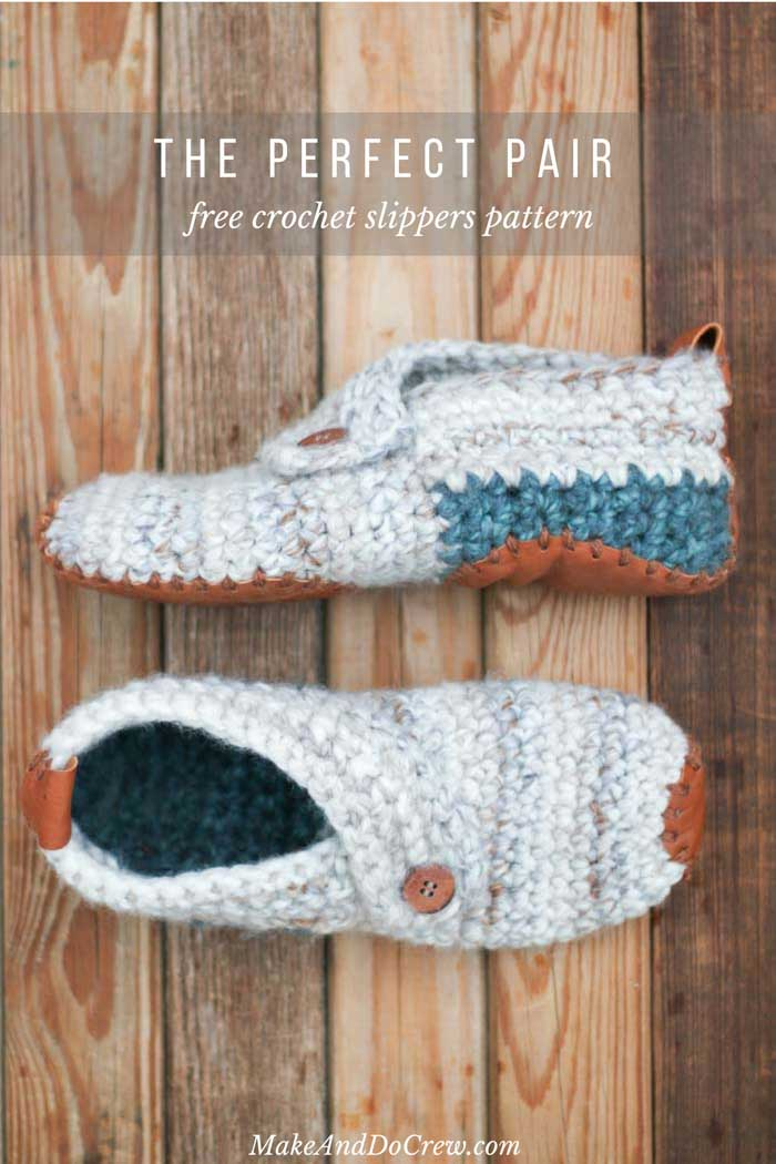 Stylish Modern Free Crochet Slippers Pattern For Women