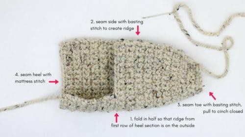 How To Crochet Slippers Tutorial 1 Make Do Crew
