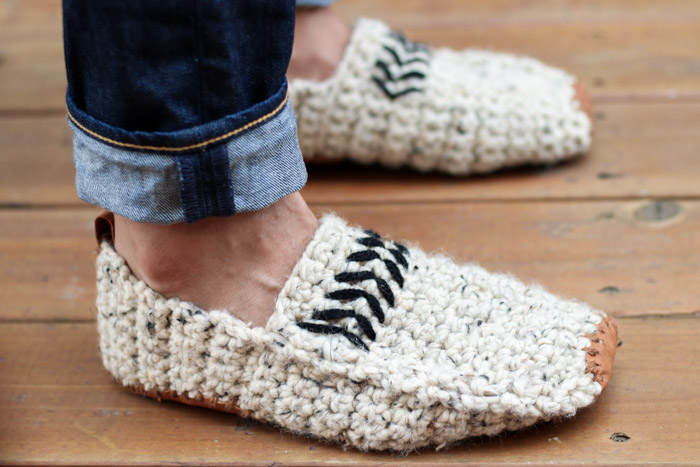 Modern Men S Crochet Slippers With Leather Soles Free