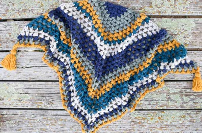The Revival Crochet Triangle Scarf – Free Pattern + Video Tutorial!