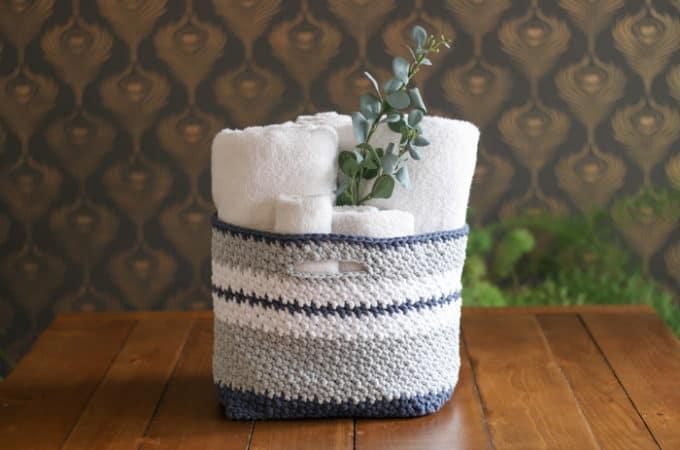 The Jacqueline Easy Crochet Basket Pattern