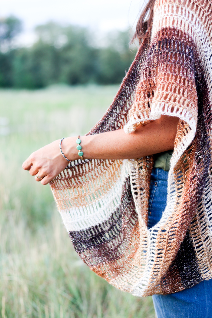 This modern crochet vest pattern can be made to look bohemian or sophisticated depending on the colorway.