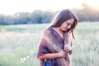 Wrap up in a shimmery, cozy crochet shrug! This free crochet vest pattern is part prayer shawl, part vest and all gorgeous in self-striping Shawl in a Ball Yarn from Lion Brand.