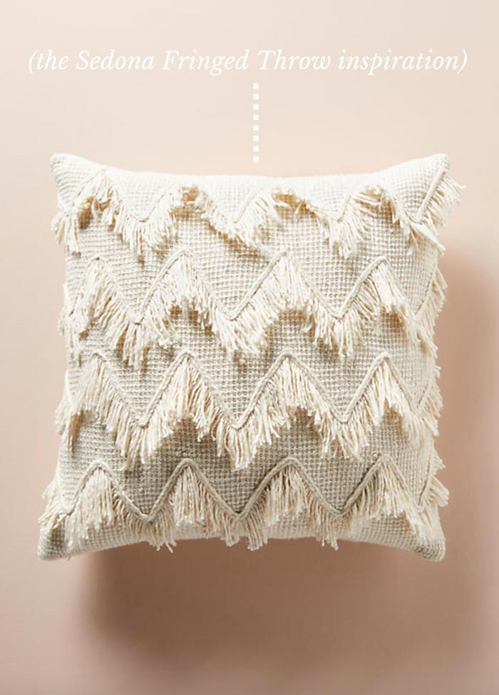 Sedona Fringed Crochet Throw Free Pattern from Make & Do Crew