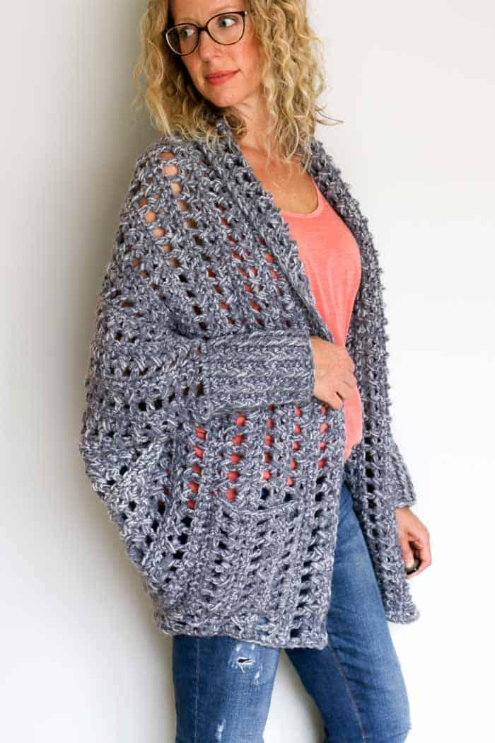 Chunky Crochet Sweater Free Pattern Video Tutorial 15 Make Do Crew