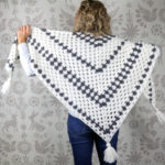 Newsprint Crochet Granny Stitch Shawl + Giveaway!