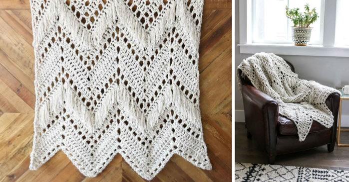 free-pattern-crochet-afghan-fringe - Make & Do Crew