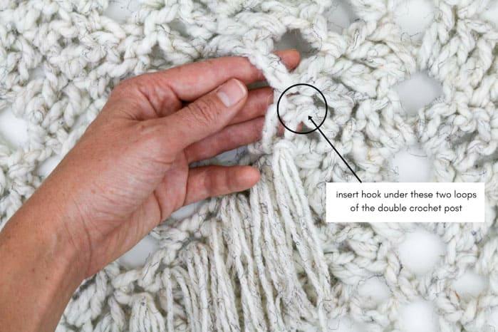Sedona Fringed Crochet Throw Free Pattern From Make Amp Do