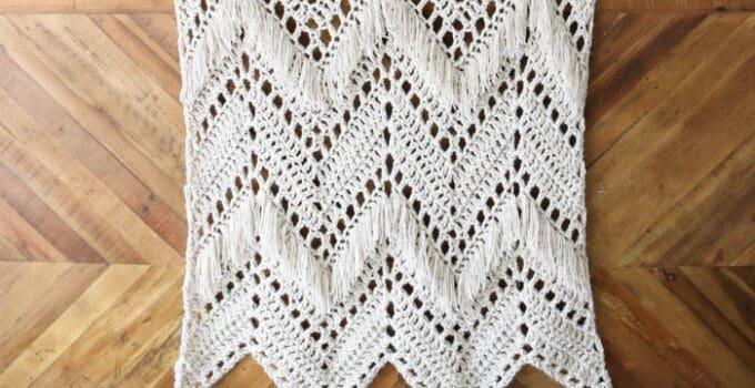 Sedona Fringed Crochet Throw – Free Pattern!