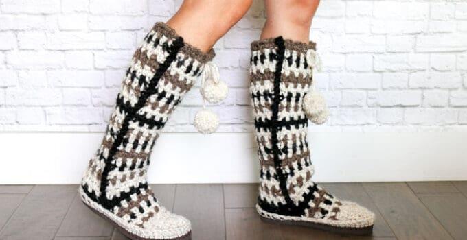 Taos Crochet Slipper Boots with Flip Flop Soles – Part 1