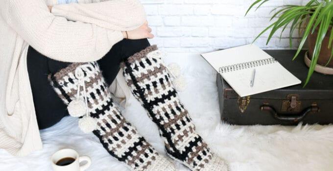 Taos Crochet Mukluks – Free Slipper Pattern Part 2
