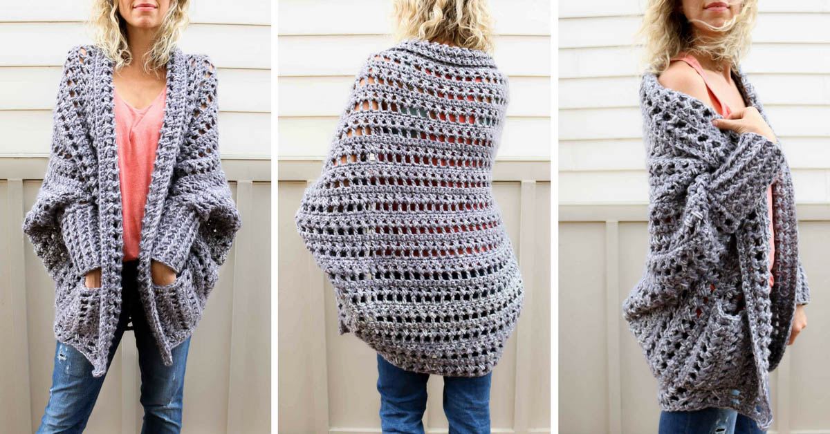 Oversized Crochet Sweater Free Pattern Fb Make Do Crew