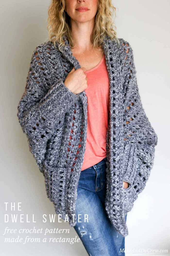 ec3ae2511 This free chunky crochet sweater pattern is part of an ongoing  collaboration with my friends at Lion Brand Yarn. This post contains  affiliate links.