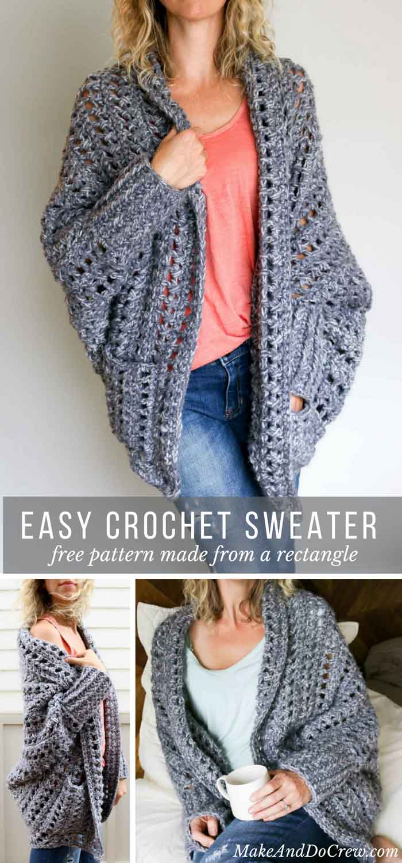 oversized-crochet-sweater-free-pattern - Make & Do Crew