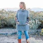 The Greyscale Free Crochet Poncho Pattern