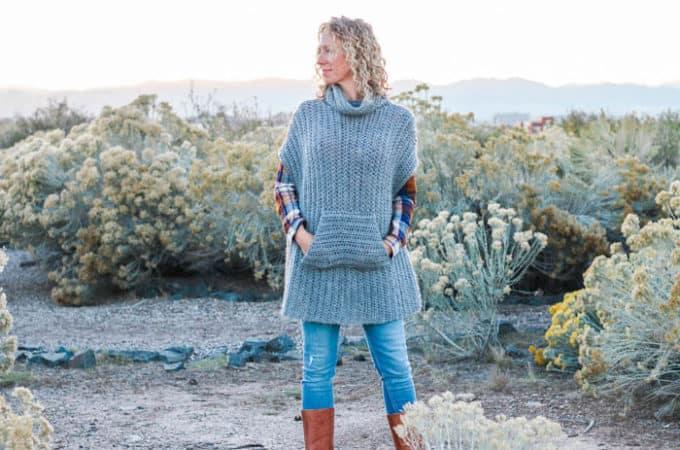 The Greyscale Free Crochet Poncho Pattern