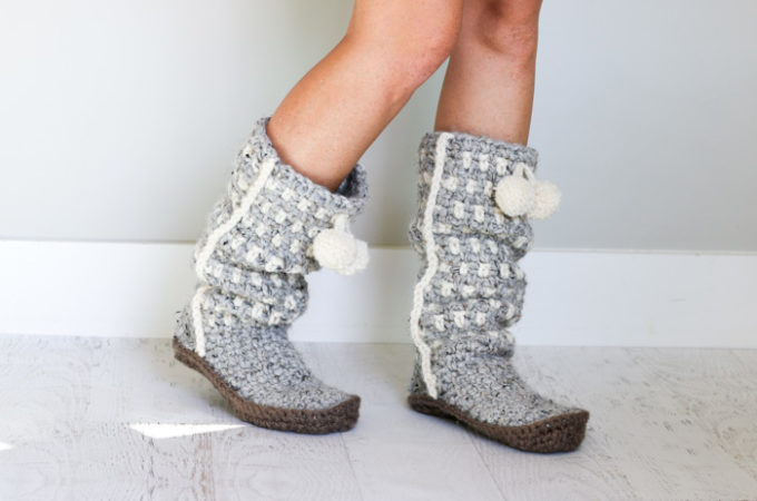 Sierra Easy Crochet Slippers – Free Pattern Part 1