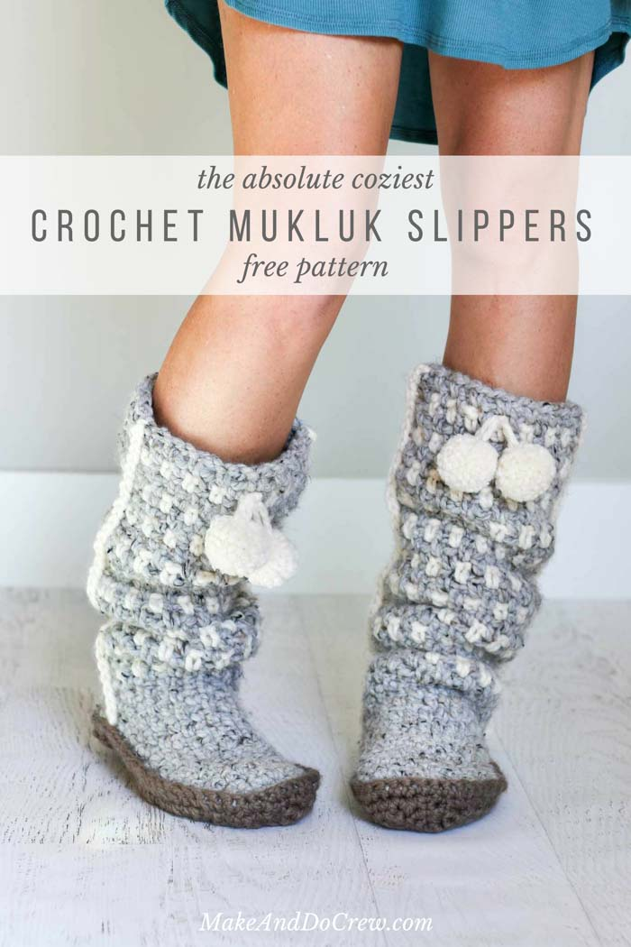 Sierra Easy Crochet Slippers Free Mukluk Pattern