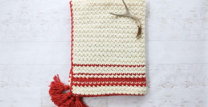 Hygge Holiday Free Beginner Crochet Blanket Pattern