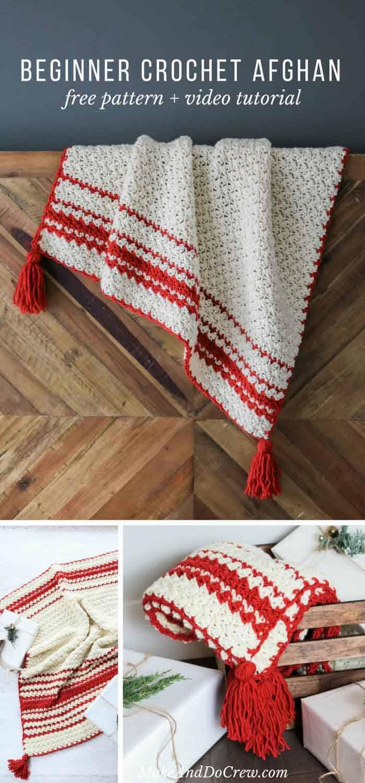 scandinavian-free-beginner-crochet-blanket-pattern - Make & Do Crew