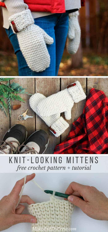 waistcoat-free-crochet-mittens-pattern - Make & Do Crew