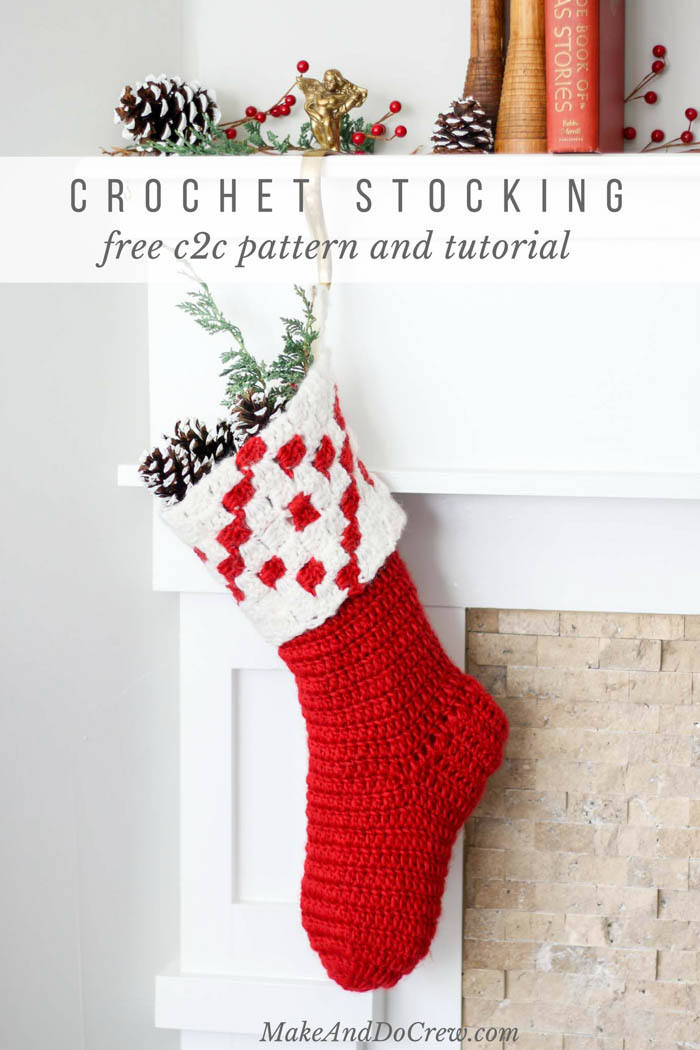 Nordic Crochet Christmas Stocking - Free Pattern from Make & Do Crew