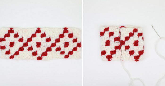 This corner to corner crochet (c2c) Christmas project is quick so you can make a crochet Christmas stocking for everyone in your family!