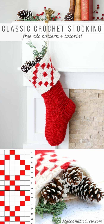 Free Crochet Stocking Pattern Interesting Design