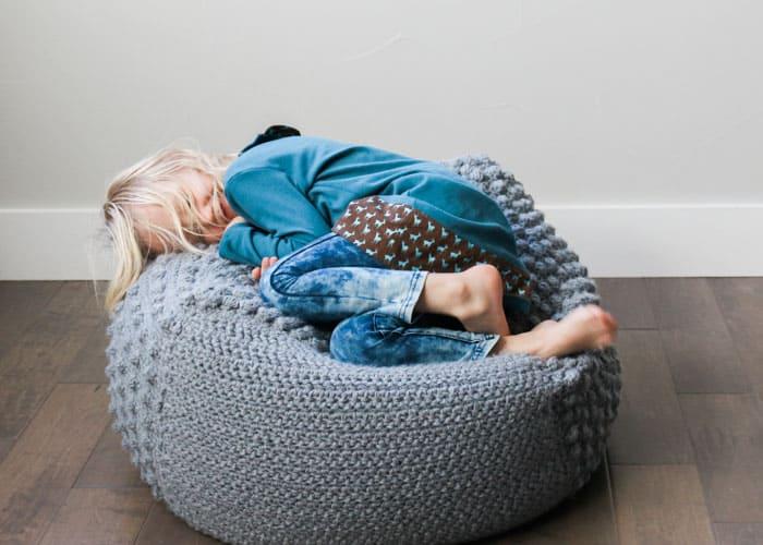 Swell Free Crochet Bean Bag Pattern An Oversized Sampler Pouf Ibusinesslaw Wood Chair Design Ideas Ibusinesslaworg