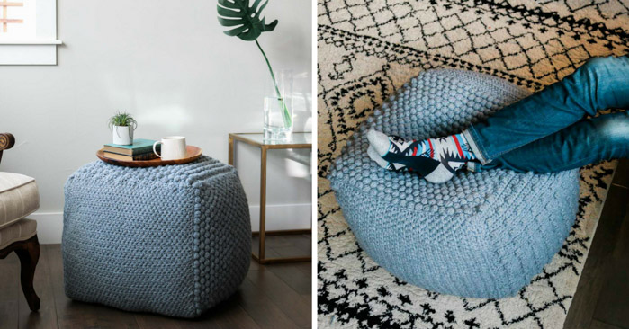Free Crochet Pouf Bean Bag Pattern 187 Make Amp Do Crew