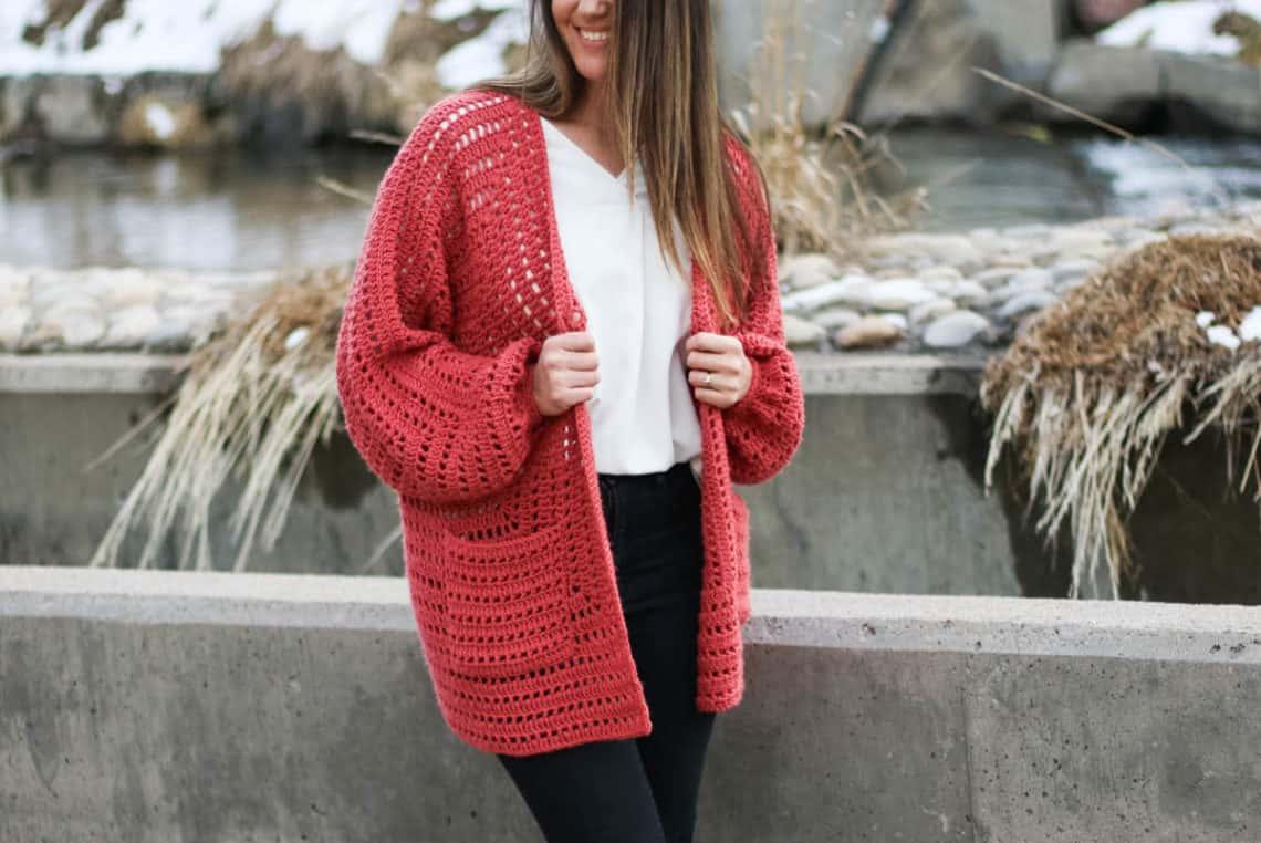 Designer Sweaters ~ 5 Designs ~ Pullovers Cardigan Jacket crochet patterns NEW
