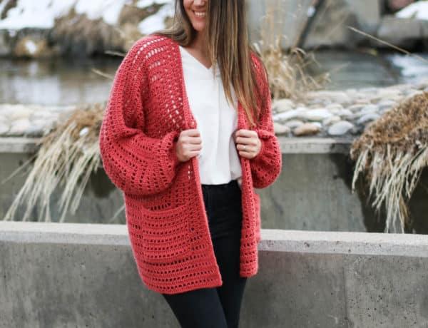 Day Date crochet hexagon sweater pattern -- includes beginner-friendly video tutorial!