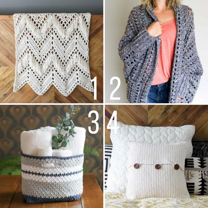 Free crochet patterns from Make and Do Crew using Lion Brand yarn. These modern crochet patterns will make you look and feel cool!