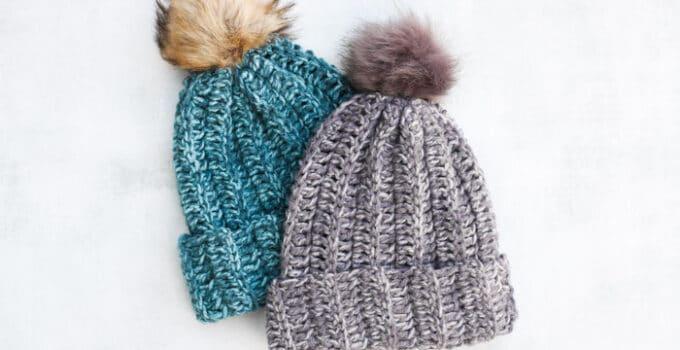 """Slope"" Style: 13 Chunky Hat Patterns to Crochet + Knit"
