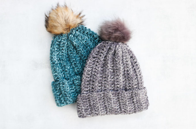 """Slope"" Style: 13 Chunky Hat Patterns to Crochet + Knit"