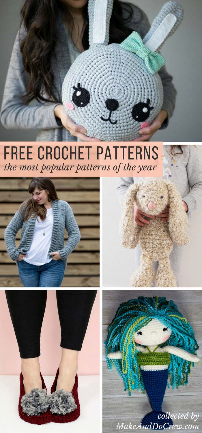 You're sure to find your next project in this collection of the most popular free crochet patterns from some of my favorite crochet blogs and designers! Sweaters, afghans, amigurumi toys and more!