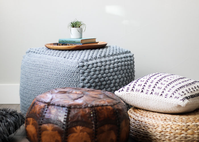 Astonishing Free Crochet Bean Bag Pattern An Oversized Sampler Pouf Squirreltailoven Fun Painted Chair Ideas Images Squirreltailovenorg