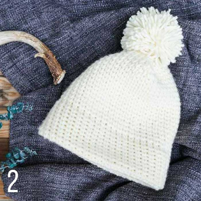 This easy knit stitch beanie uses the waistcoat crochet stitch to mimic the look of stockinette. Part of a collection of free crochet patterns that look like knitting from Make & Do Crew.